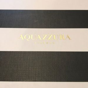 Aquazurra black and white shoe box